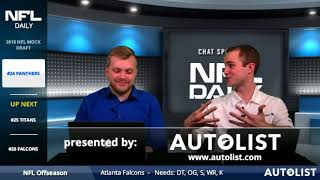 2018 NFL Mock Draft Selections 21-32: Panthers, Falcons, Saints, Steelers, Vikings, Patriots, Eagles 2017 Video