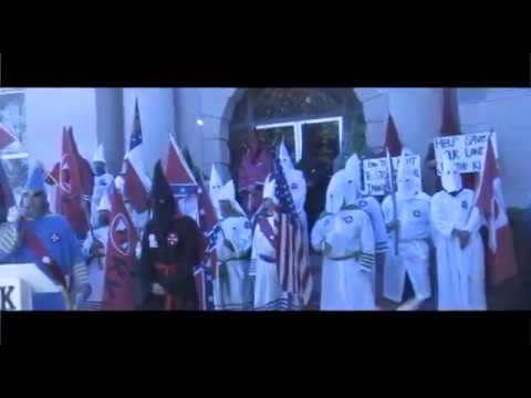 Uncut video footage in Tupelo Mississippi early 2000 of the KKK