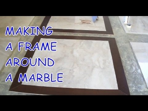 How To Install Prefinished Hardwood Frame Around A Marble Tile