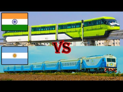 Indian Railways vs Argentinean Railways Comparison