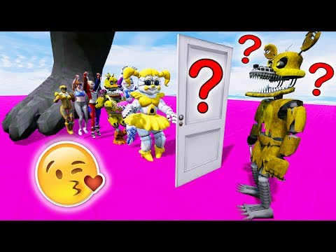 GUESS GOLDEN NIGHTMARE FOXY'S MYSTERY DATE! (GTA 5 For Kids FNAF RedHatter)