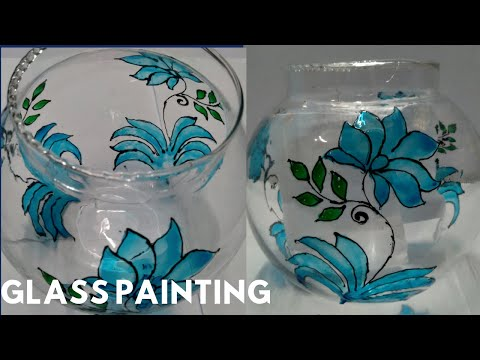 GLASS PAINTING ON FISH BOWL | Glass Painting | PixaCraft