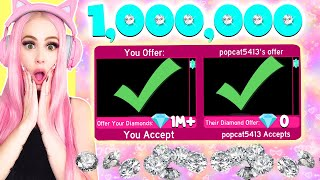 I Traded Someone ONE MILLION DIAMONDS In Royale High... Roblox Royale High Trading