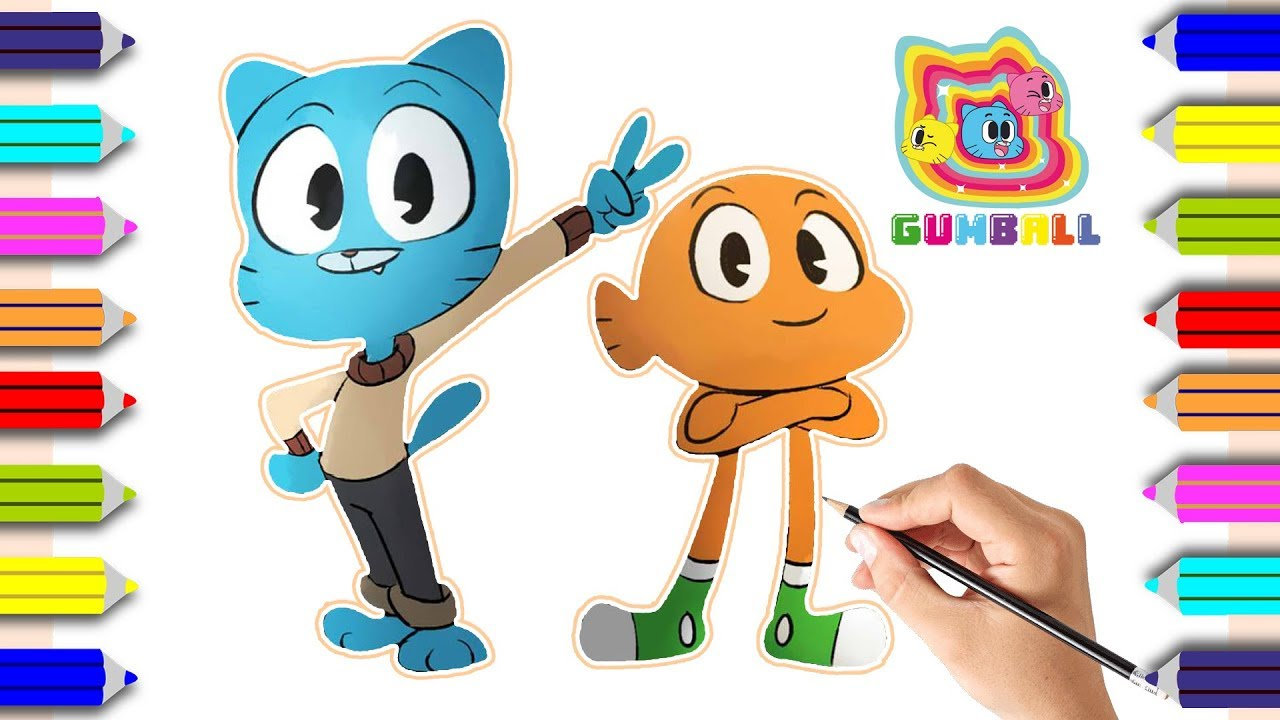 Kids-n-fun.com | 23 coloring pages of Amazing World of Gumball | 720x1280