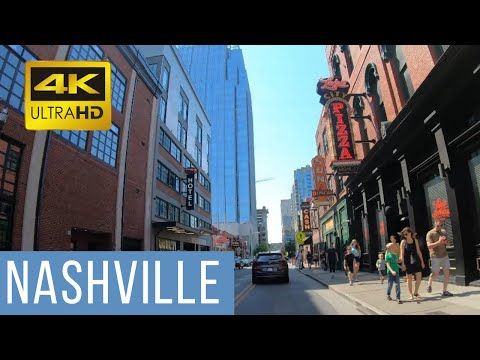 Nashville Driving 4K - USA: Downtown |