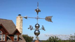 Artistic Handcrafted Stainless Steel Weathervanes - Made In U.s.a.