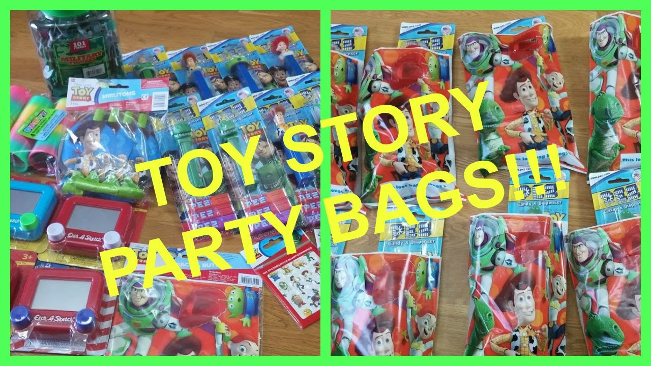LIAMS 1ST BDAY TOY STORY PARTY BAGS IDEAS