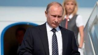 Прилет Владимира Путина в Анкару. Полное видео