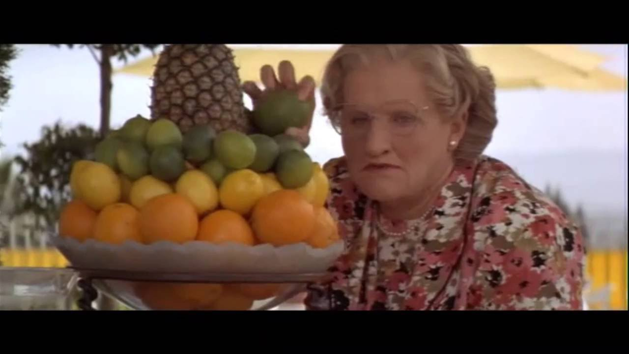 Mrs Doubtfire Pool Scene Funny Youtube