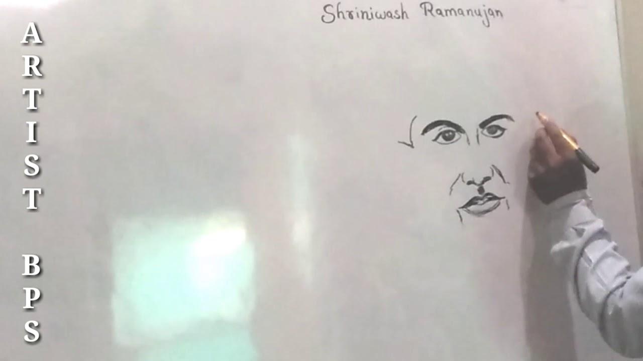 Live drawing classes how to draw shrinivas ramanujan