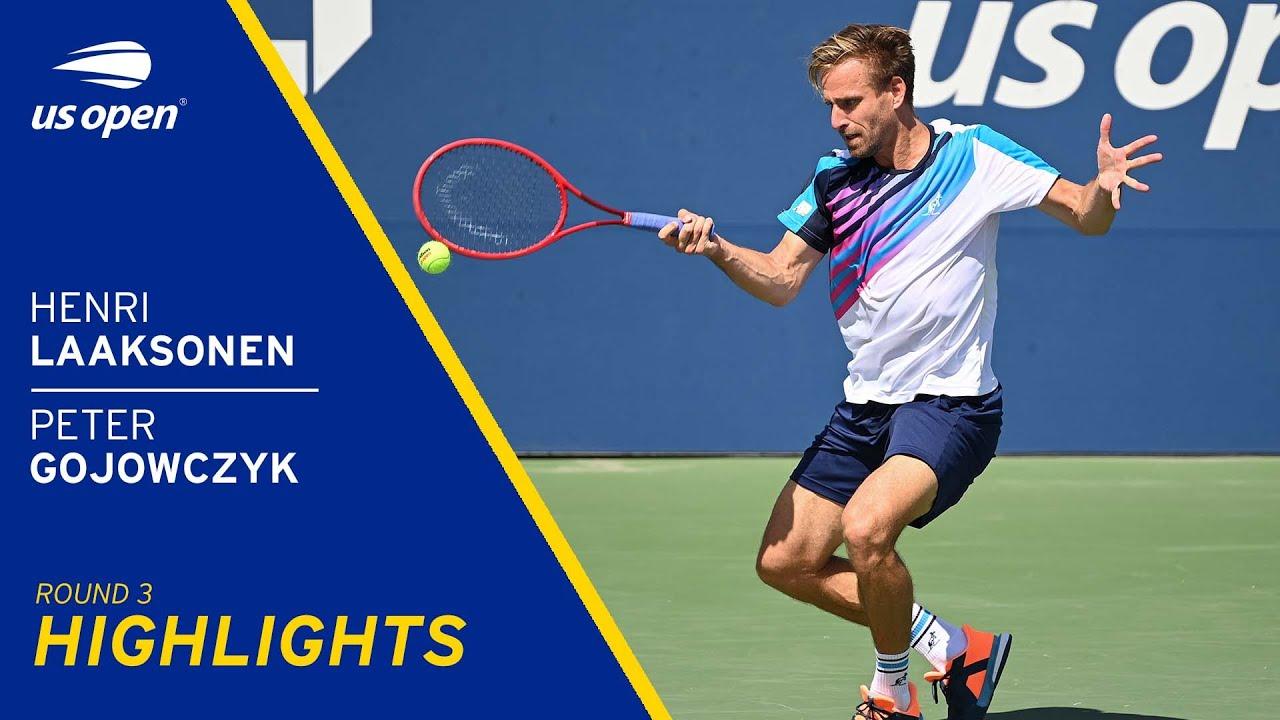 Henri Laaksonen vs Peter Gojowczyk Highlights   2021 US Open Round 3