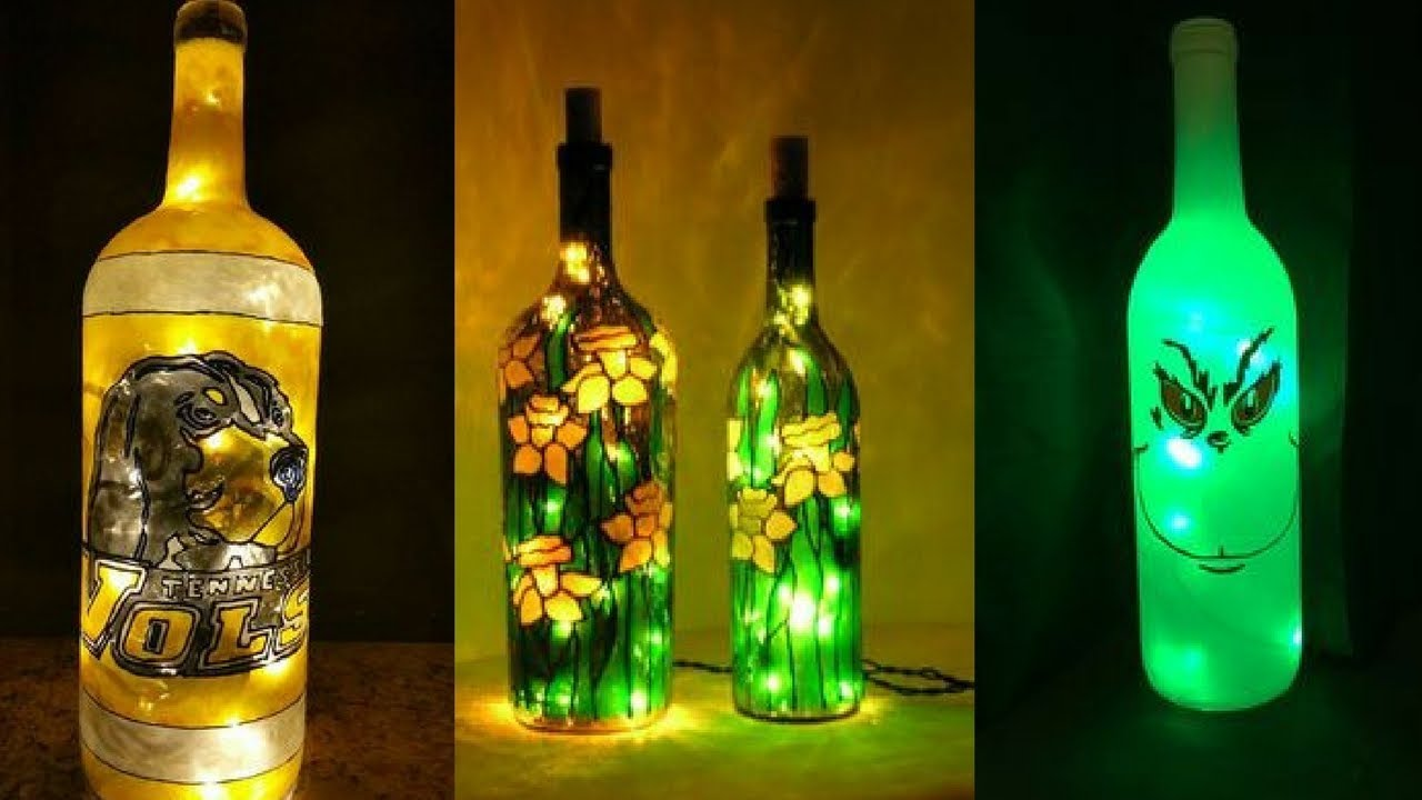 50 led christmas lights wine bottles ideas