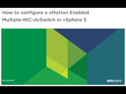 How to configure a vMotion enabled Multiple-NIC-dvSwitch in vSphere 5
