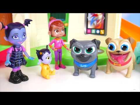 Vampirina Disney Jr is SICK CHICKENPOX Jail Rescue Game | Toys Kids Junior Puppy Dog Pals Playset!