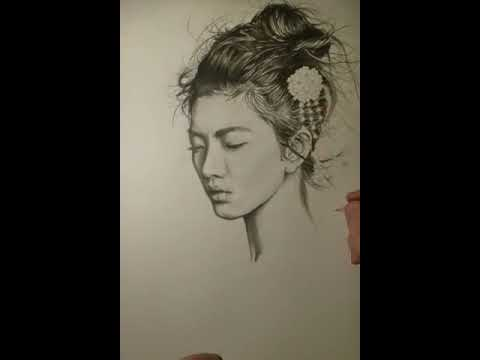 Portrait Asiatique Geisha Femme En D'une Jeune Dessin Yg76ymbfvI