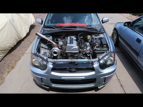 K Swapped STI gets a Turbo! : HaggardGarage