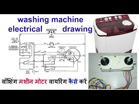 washing machine electrical connection and washing machine motor