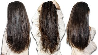 How I Straighten my Curly Hair WITHOUT HEAT| Alya Amsden