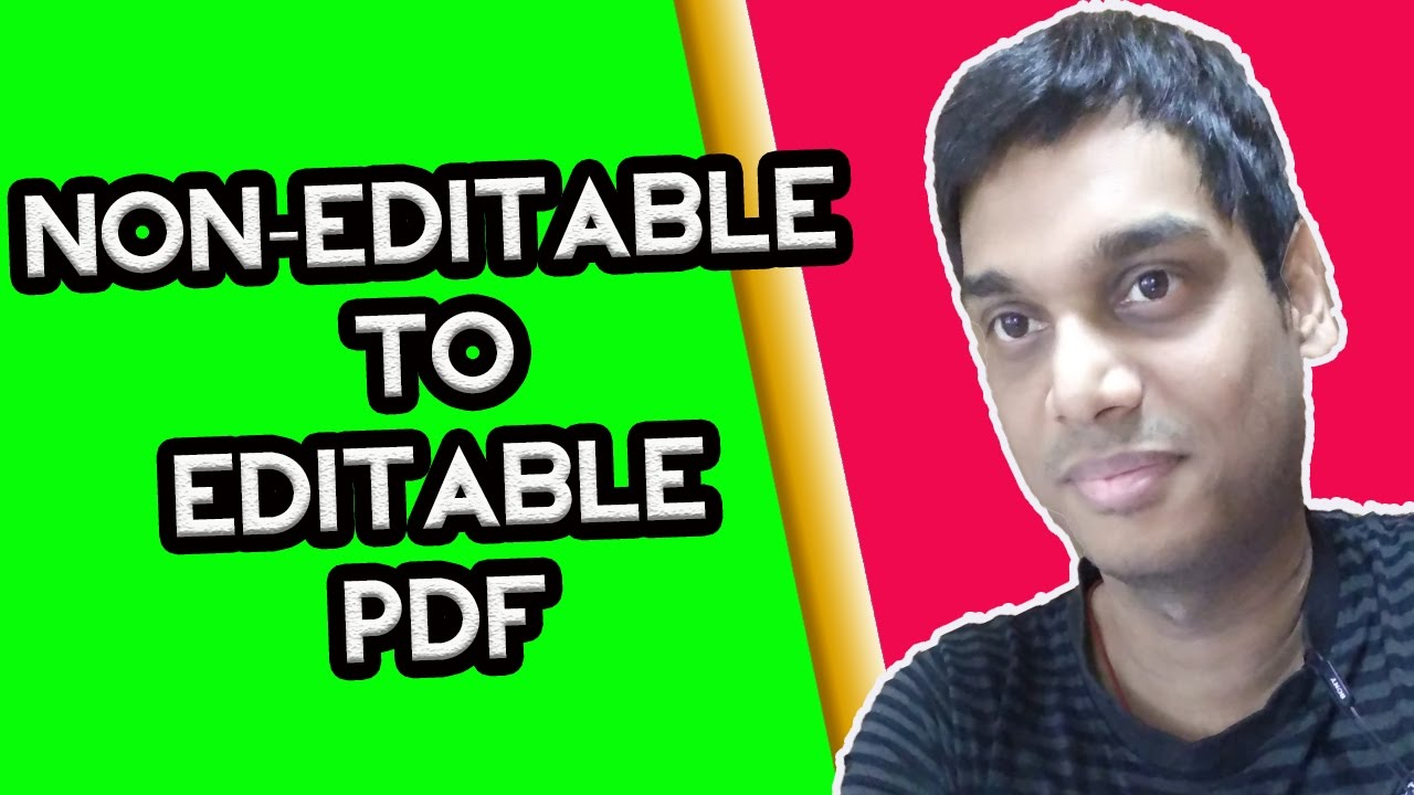 How to Convert Scanned PDF Files to Editable Files