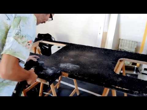 epoxy terrazzo dry sanded