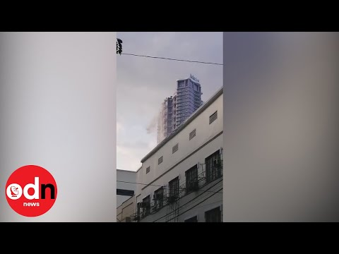 Earthquake sends water pouring from Manila tower block