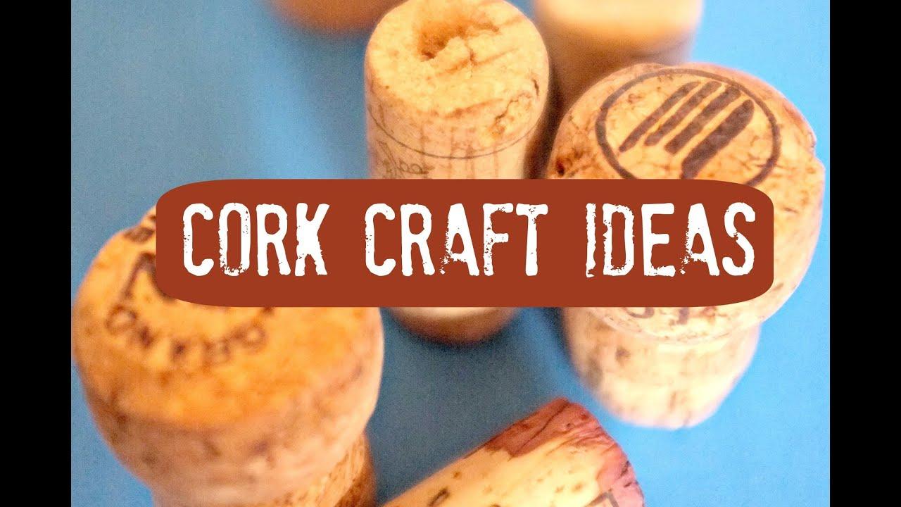 Cork Crafts - YouTube