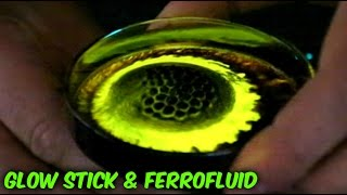 What Happens If You Mix Glow Stick and Ferrofluid