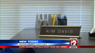 The Latest: Kentucky clerk again refuses to grant license