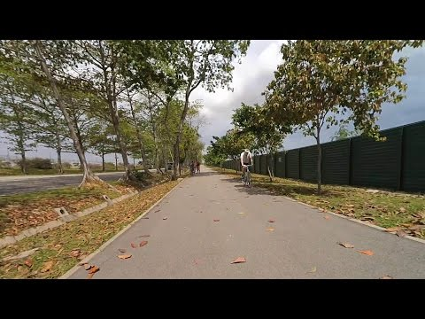 Singapore round island cycling on December 12, 2015