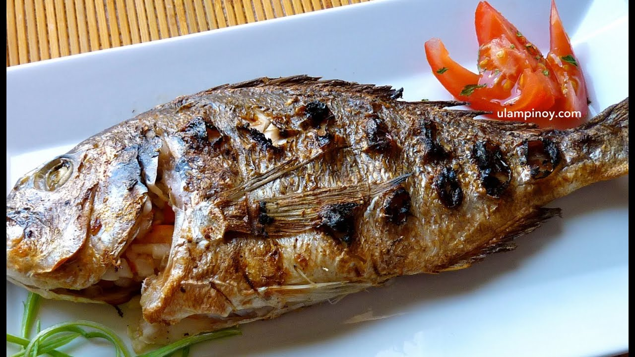 Ulam pinoy 13 grilled fish inihaw na isda youtube for How to cook fish on the grill