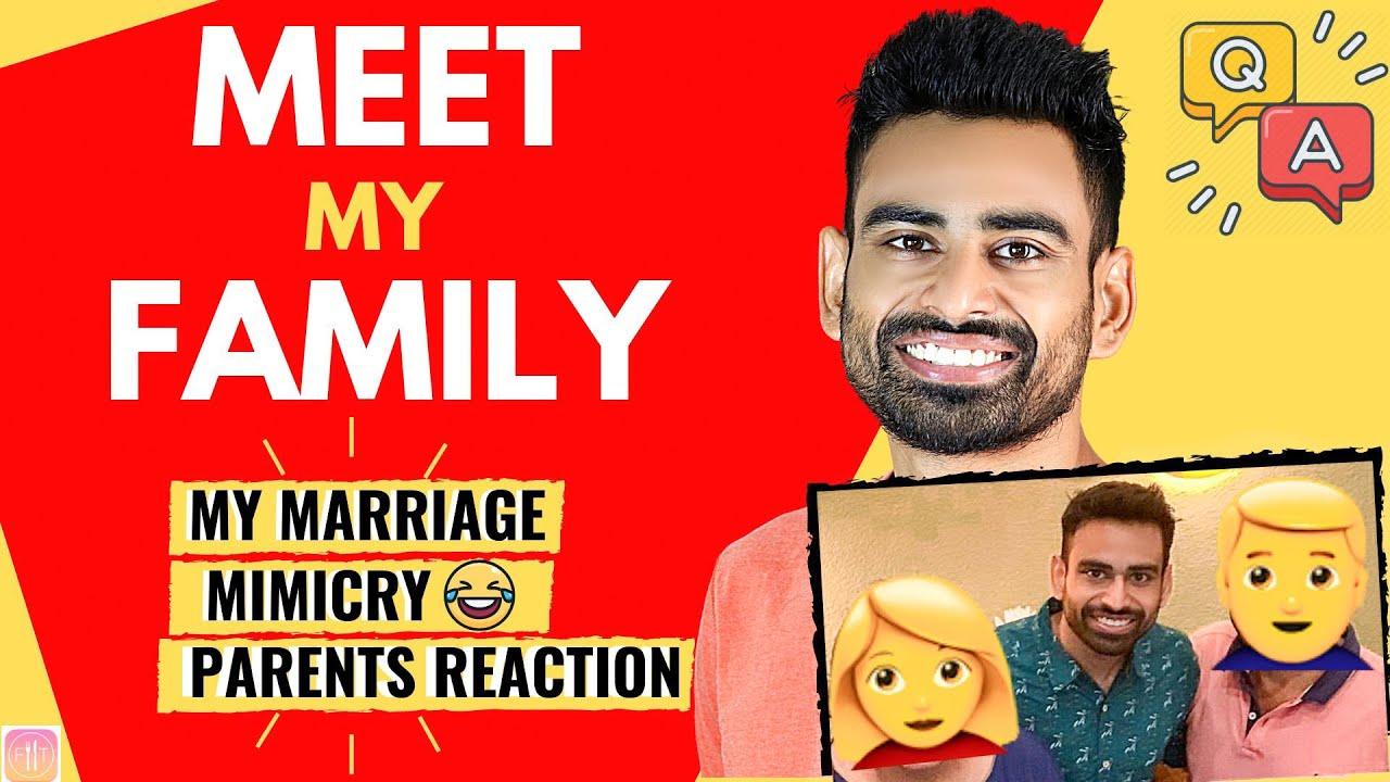 Meet my Family | Fit Tuber 3 Million Q&A (Parents reaction, Mimicry😂 , Surprise)