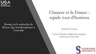 Chaucer et la France: Un rapide tour d'horizon