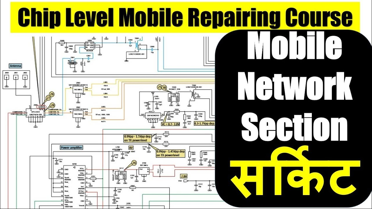 How To Read Schematics Or Circuit Of Mobile Phone Network Section In Reading For Dummies Hindi 2018