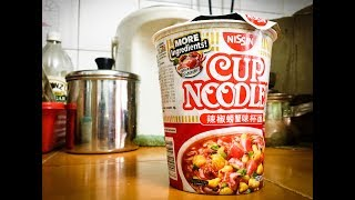 Nissin Chilli Crab Favour Cup Noodle: Food review!