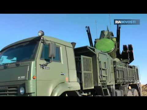Pantsir S Russian army Air Defense Division Repels Night Air Raid Video RIA Novosti