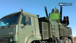 Pantsir S Russian army Air Defense Division Repels Night Air Raid Video RIA Novosti