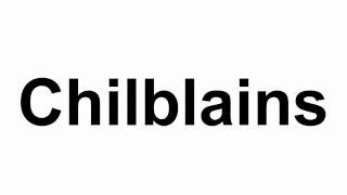 Chilblains -  Basic Concepts About Chilblains