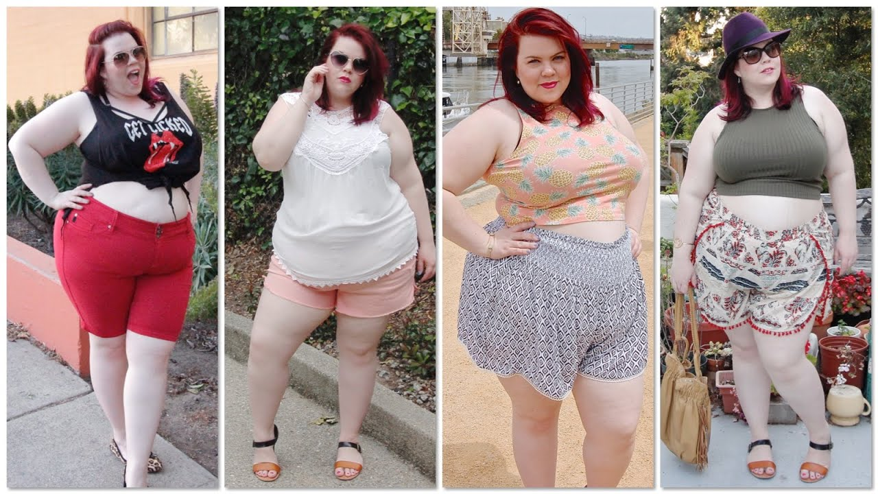 plus size shorts & crop top try-on clothing haul: asos curve