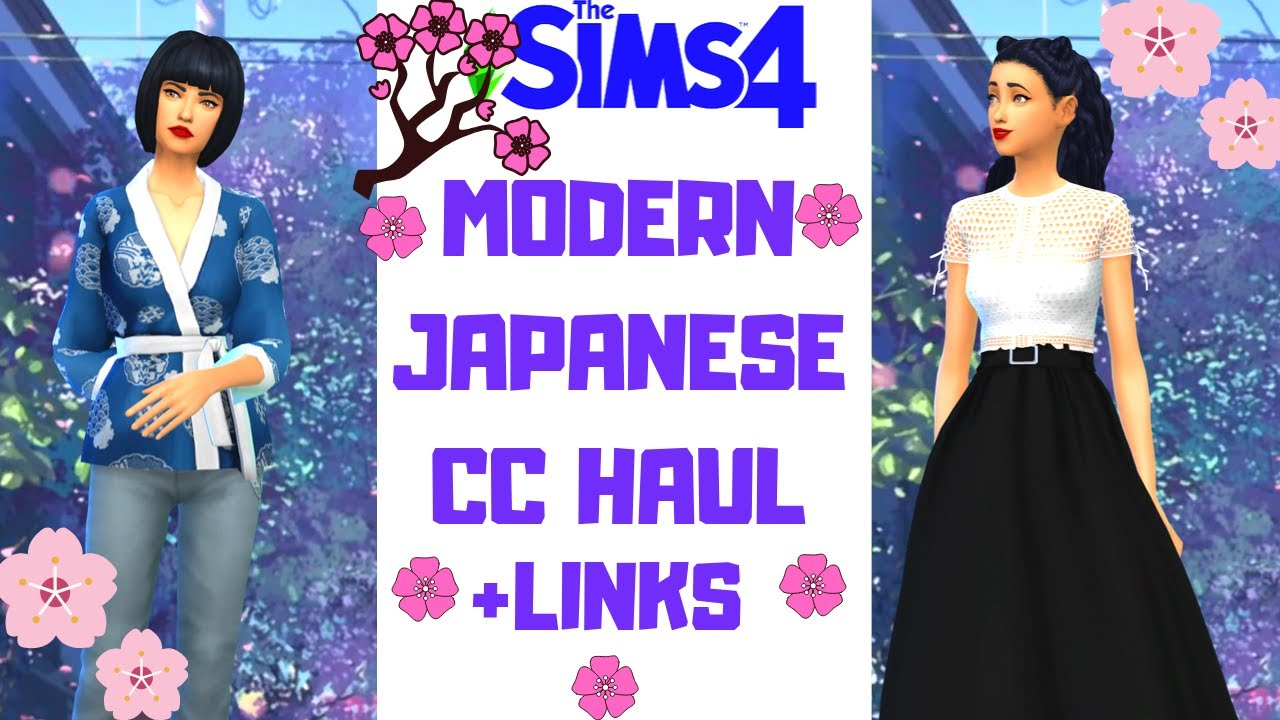JAPANESE CC HAUL FINDS   LINKS SIMS 4 LOOKBOOK YouTube