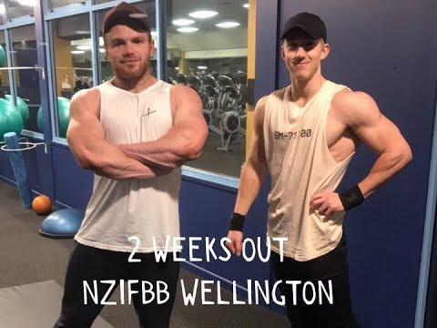 2 WEEKS OUT-NZIFBB WELLINGTON-BODYBUILDER DAY IN THE LIFE-SHOULDER WORKOUT