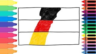 How to Draw Germany Flag - Drawing the German Flag - Art colors for kids | Tanimated Toys