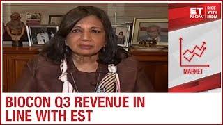 Biocon Revenue jumps 13% in Q3 | Kiran Mazumdar Shaw to ET NOW