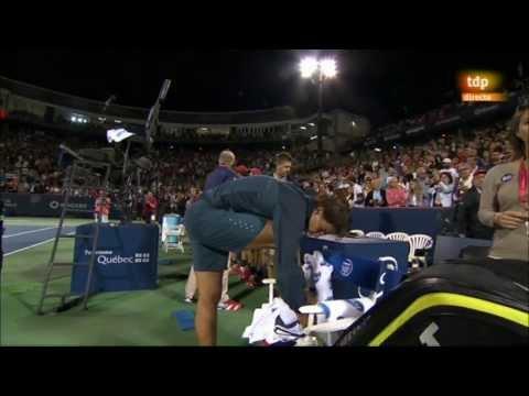 Rafa Nadal vs. Nole Djokovic 6-4, 3-6 y 7-6 (2) Semifinal Montreal 2013