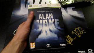 Unboxing Alan Wake Limited Collector's Edition - SIGNED copy!