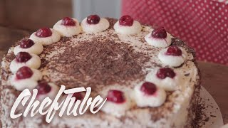 How to make a Black Forest Cake - Recipe in description