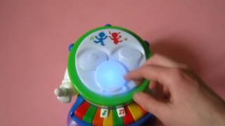 """Детская развивающая музыкальная игрушка """"Веселый Оркестр"""", """"Piano and Drum"""" от Kiddieland (обзор)"""