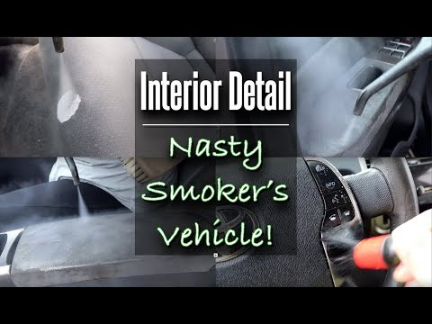 How To Clean A Smoker's Vehicle / Deep Cleaning Upholstery