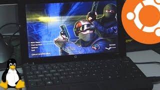 HP Mini 110 running Ubuntu 13.04 Gaming with Intel 945GME