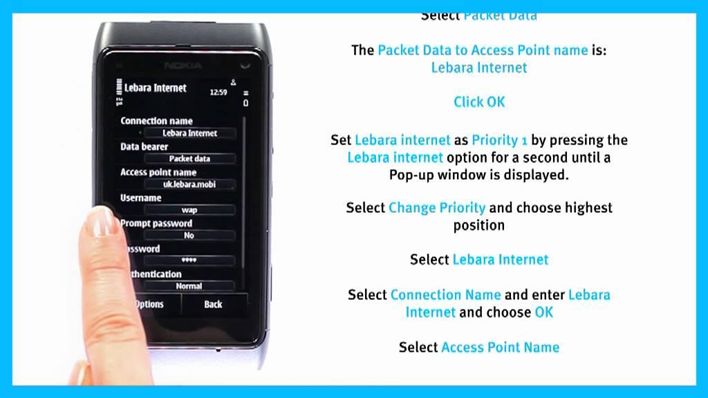 lebara internet settings manual australia