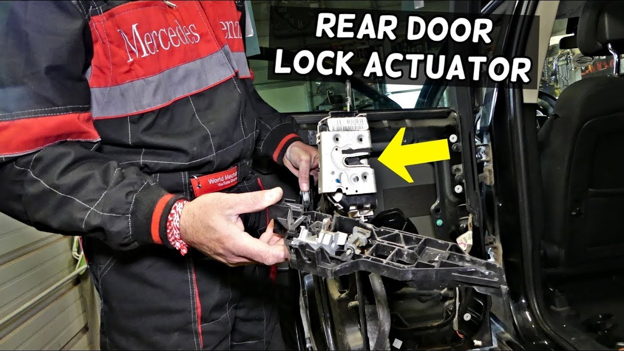 Dodge Journey Rear Door Lock Actuator Replacement Removal Door Handle Mechanism Replacement Youtube